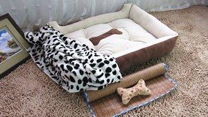Роскошь Теплое Премиум домашних собак Дома для собак Аксессуары + Хлопковое одеяло коврик подушка мягкая кровать самосогревания Lounge Sleeper набор