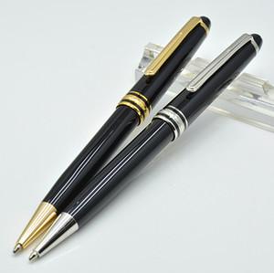 Alta calidad Meisterstok 163 bolígrafo de resina negro papelería de oficina de la escuela de lujo monte Plumas de recarga de escritura para el regalo de negocios
