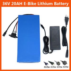 Batteria ricaricabile per bici elettrica 36V 20AH Batteria al litio 36V Batteria per bici 1000V 36V con custodia in PVC Caricabatterie 30A BMS 42V 2A