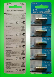 12 فولت بطاريات القلوية A27 27A LR27A MN27 L828 5 قطع لكل بطاقة نفطة 100٪ الطازجة فيديكس ups مجانا