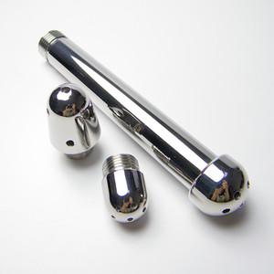 High quality aluminum flush plug with 3 replacement head anus bolt g-spot backyard anal plug flushing washing sex toy