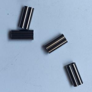 50pcs prata Pesca Oval Duplo Latão tubo duplo cobre friso mangas Connector Set Box Pesqueiro