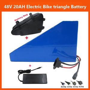 Аккумуляторная 48V 1000W Triangle электрический велосипед литиевой батареи 48V 20AH с зарядным устройством 30А BMS 54.6V 2A и батареи сумка Бесплатная доставка
