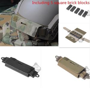 Estilo Ops-Core Rápido Traseiro Contrapeso FAST Helmet Acessório Bolsa Incluindo 5 blocos de tijolos quadrados Compete kit