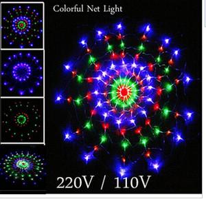 1.2 م 120 المصابيح 8 وسائط فلاش 220V / 110V ملون RGB LED صافي سلسلة ضوء عيد الميلاد حفل زفاف أضواء شحن مجاني