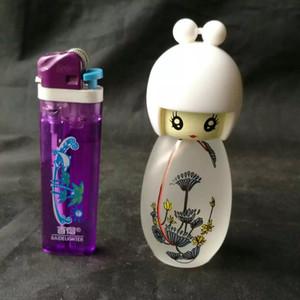 Cartoon poupées lampes à alcool, Bongs en verre en gros, Pipe à eau en verre, Narguilé, Accessoires pour fumer,