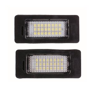 2X sin errores 24 3258 SMD LED Luces de la matrícula Número luz de la placa en forma para el E82 E88 E90 E92 E39 E60 E70 X5 M5 E71 E72 X6 2007-2011 2012