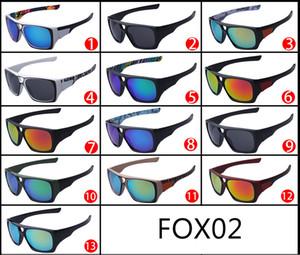 2015 fashion FOX-THE REMIT occhiali da sole Dazzle color FOX lenti congiunte grande montatura Occhiali da sole FOX02