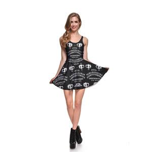 2016 Yaz Yeni varış Kadın Kolsuz tabak Yelek Elbise Moda Dünya dışı Dijital Baskı Elbiseler Boyut S-4XL