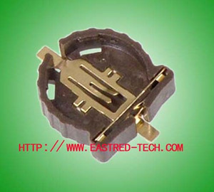 1000pcs Lot SMT battery holder  socket  clip for CR1220 button cell, Super quality RoHS