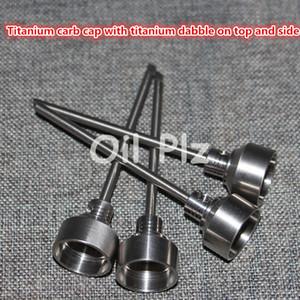 Domeless Titanium Ti ногтей 14 мм 18 мм мужской FemaleCarb Cap Dabber класс 2 против керамические ногти кварц Най стекла водопровод понг