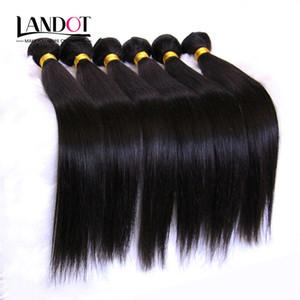 Non Transformés 8A Péruvienne Malaisienne Indienne Brésilienne Droite Vierge Remy Extensions de Cheveux Humains Weave 10 Bundles (1 KG) Naturel Noir Couleur