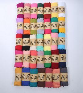 1 ADET sonbahar kış Kore kadın Saf renk eşarp bayanlar kafa Pamuk ve keten eşarp 20 renkler büyük 180 * 75 cm sıcak satış ücretsi ...