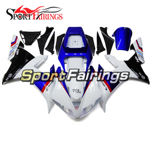 Plein moto blanc noir bleu Fairings pour Yamaha YZF1000 R1 02 03 2002 2003 injection ABS Fairings moto Bodywork Cowlings Kit