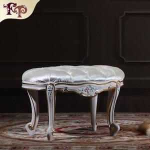 Muebles rococó europeos - Taburete de pie de dormitorio clásico de gama alta, muebles de madera clásicos, muebles de royal - muebles para el hogar Envío gratis