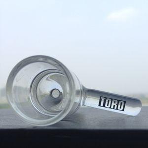 Sıcak yeni cam kase kadın ortak toro kase petrol kuleleri için 18mm tobocco kaseler cam bonglar ve pieps