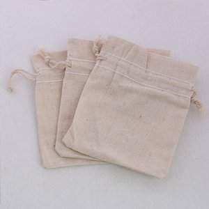 Hot 9*10.5cm Jewelry Gift Bags Beige Fabric Bags Jewelry Pouches For Gifts Packaging 25pcs lot Drop Shipping