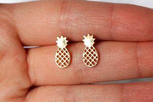 30Pair - S047 симпатичные крошечные ананас серьги прекрасный ананас серьги простой смешной контур фрукты серьги для женщин минималистский