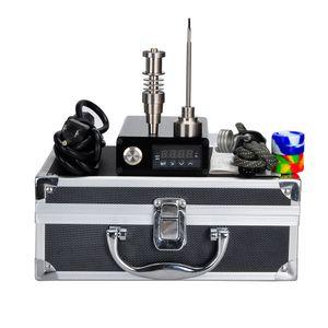 Akıllı Mini Elektrikli E Dab Tırnak Kutusu Komple Kiti Kuru Ot Buharlaştırıcı Alüminyum Kasa Gr2 Titanyum Çivi Carb Cap Fancier F710