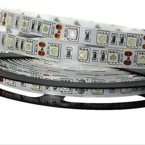 Bande LED 5050 12V Flexible Light 60 leds / m Blanc Chaud Blanc Rouge Greed Bleu Jaune RVB Couleur Plus Brillant Que 3528
