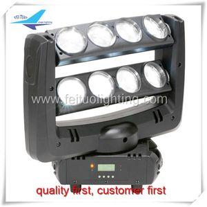 Haz de luz de cabeza móvil 8x10w color blanco moviendo barra barra de araña led dmx iluminación escénica