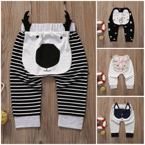 Cute baby pants boy girl cotton animals trousers kid clothing wholesale pantsuit Harem style new babies 4 designs Mouse Cow Bear Fox bottoms