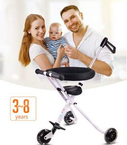 Factory Outlet Stroll Wafer Artifact Aluminum Alloy Child Folding Skateboard Three Wheeled Trolley Child Stroller Baby carriage