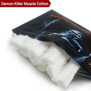 Демон убийца мышцы хлопок аутентичные 100% безвкусный хлопок фитиль подходит для RBA RTA RDA электронная сигарета DHL бесплатно