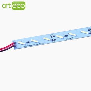 10 unids * 0.5 m SMD 8520 LED barra de luz DC12V 50 cm 36 leds LED de luz rígida dura para gabinete / joyería, etc. envío gratis