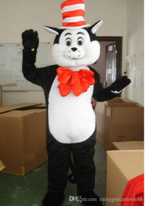 Traje da mascote do gato preto traje personagem de banda desenhada animal cat mascotes roupas dos desenhos animados adulto tamanho festa de aniversário de natal fantasia trajes