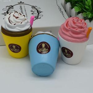 Atacado-11CM Ice Cream Coffee Cup Squishy Brinquedos Lento Rising Bonito Kid Toy Perfumado Soft Squeeze Presente Pretend Play Adereços