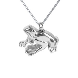 Cremation Jewelry Glossy Frog Urn Necklace Memorial Ash Keepsake Pendant With Gift Bag Funnel and Chain