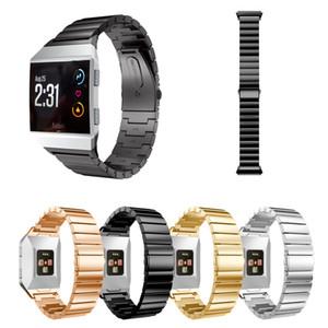 2017 럭셔리 시계 밴드 130-210mm 고체 316 스테인레스 스틸 액세서리 시계 밴드 스트랩 메탈 밴드 Fitbit Ionic Smart Watch