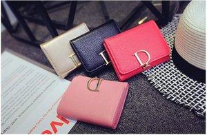 2017 neue Mode Dame Null Brieftasche D Brief Turm Ziehen Sie eine Dreifache Geldbörse in der Geldbörse 4 Farbe