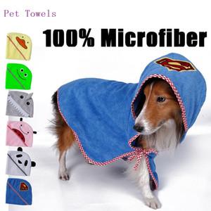 Pet Moda Série Cão Produtos de Banho Toalha de Cão 100% Microfibra super macio absorvente pet toalha 4 tamanhos 6 cores atacado