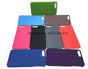 Yeni Lüks Sert Plastik Kasa Buzlu Mat Arka Kapak iphone 7 için Ultra İnce Renkli Eziyet kumlu kabuk iphone 6 s 7 artı