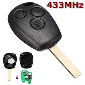 블랙 언컷 블레이드 원격 제어 키 3 버튼 433MHz Renault / Kangoo II / Clio III