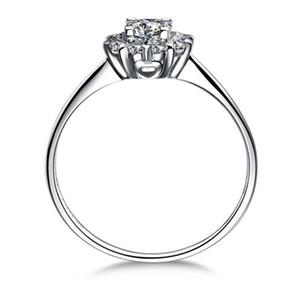 0.6 карат Принцесса Cut Sona моделируется алмазов обручальные кольца для женщин,прекрасное серебро 925 уникальное обручальное кольцо