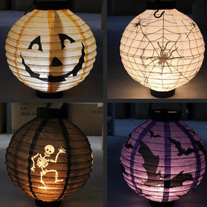 Halloween lantern 4 colors Halloween lamp Lantern White RGB Colourful Automatic Light LED Solar Light chinese lanterns