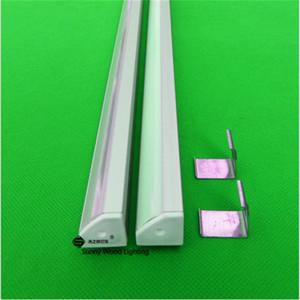 Spedizione gratuita 2m profilo in alluminio triangolo per la striscia principale, glassato della copertura / trasparente per 12 millimetri pcb con raccordi CC-19X19L