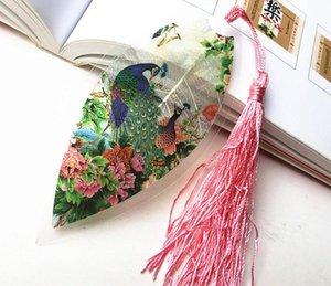 20pcs foglia di foglia secca naturale pavone segnalibro carta del libro per la cerimonia nuziale baby shower festa compleanno favore regalo souvenir souvenir