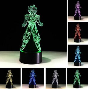 Wholesale Hot Sale Dragon Ball Son Goku Strength Bombs 3D Table Lamp Luminaria LED Night Lights Creative Child Kid Sleeping Holiday Xma Gift