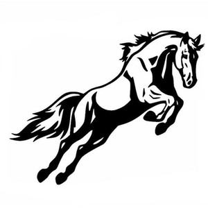 Powerful jumping horse car body sticker vinly reflective car sticker black silver
