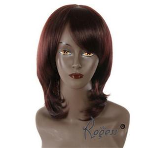 Frauen kurze gerade Rotbraun Hochtemperatur Synthteic Haar Perücke