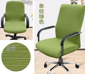 Office de housses de chaise d'ordinateur couverture de chaise accoudoir chaise La housse de siège de tabouret de tissu de pivotement défini d'une seule pièce couverture de chaise élastique
