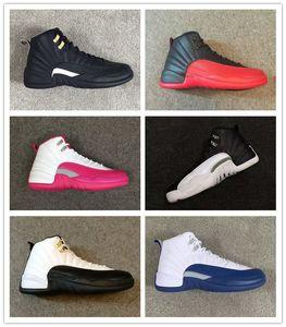 Classic 12 Basketball Shoes 12s Flu Game taxi criado French blue The Master GS OG Factory Versión de calidad Carbon fiber zoom inside