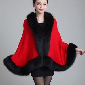 Wholesale- 2016 Autumn Winter Long Cardigan Women's New High-grade Wool Knitted Coat Fashion Imitation Mink Shawl Imitation  Fur Outwear
