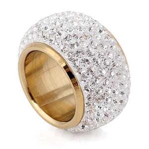 Atacado Shining Full Strass Dedo Anéis Para Mulher Luxuoso Parágrafo Moda New Antique Gold-Cor