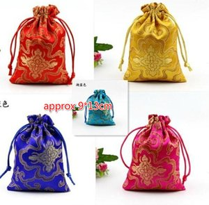 Free Ship 100pcs 9*13cm NICE Silk Jewelry Bags Candy Beads Bags Wedding Party Xmas Gift Bags