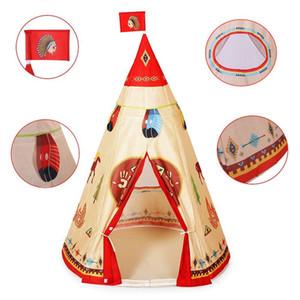 새로운 Wigwam Teepee 텐트 아기 놀이 텐트 정원 게임 어린이 키즈 정원 실내 성 텐트 재생